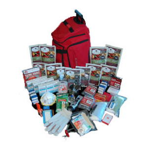 2 Week Deluxe Emergency Survival First Aid Bag Kit with Food & Water for 1 Person