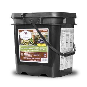 60 Serving Emergency Survival Freeze Dried Meat Bucket