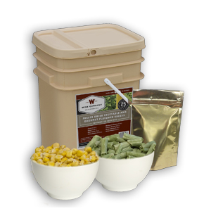120 Serv. Freeze Dried Vegetable & Sauces