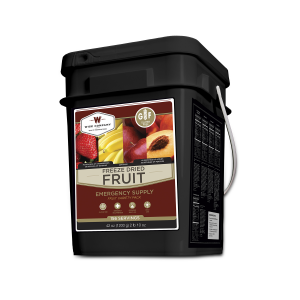 156 Serving Bucket of Wise Emergency Survival Gluten Free Freeze Dried Fruit Variety